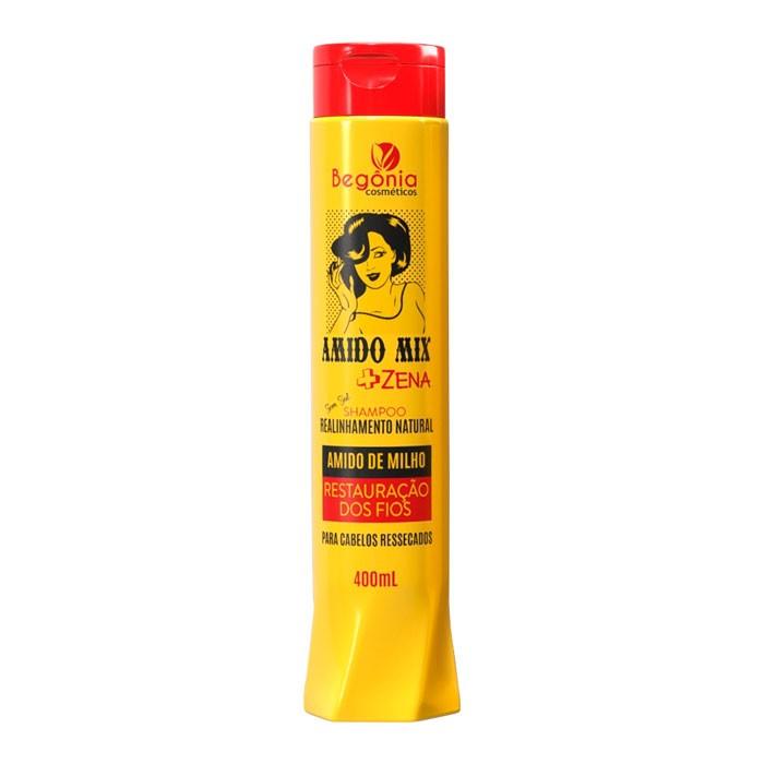 Shampoo Amido Mix Natural Begônia Cosméticos 400ml