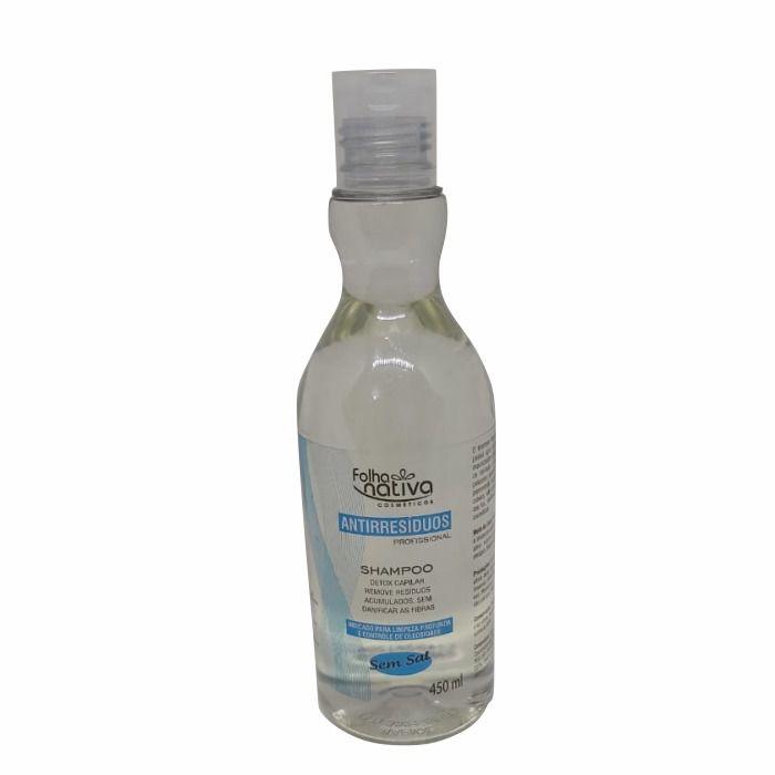 Shampoo Anti Resíduos Profissional Detox Folha Nativa 450ml