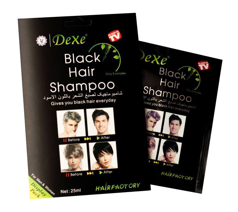 Tinta / Shampoo Escurecedor de Cabelo Dexe - Preto 25ml