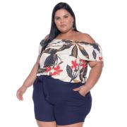 Blusa Ciganinha Plus Size ombro a ombro Antonella