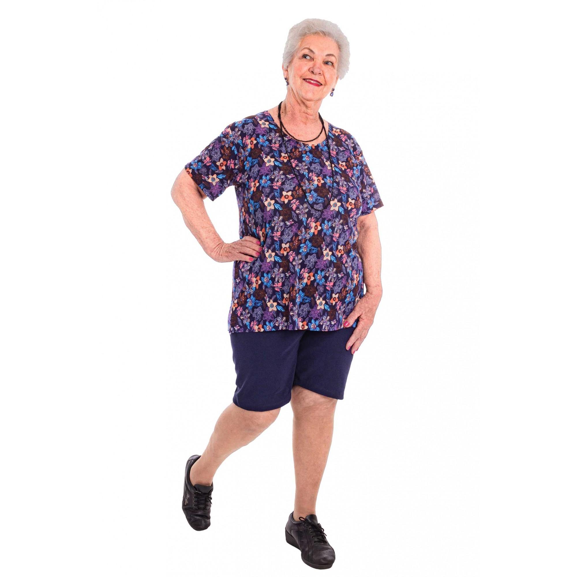 Blusa Liganete Moda Senhoras Estampas Variadas