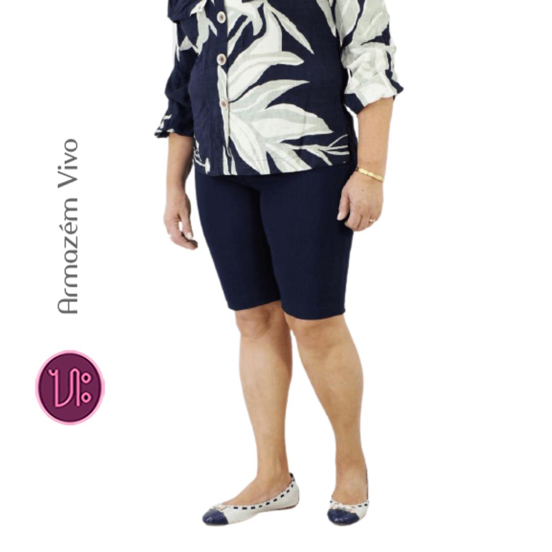 Kit 5 Bermudas Gorgurão Moda Senhoras (Cores Sortidas)