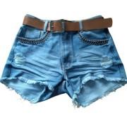 Short Jeans c/Spaik Graf Cinto Couro