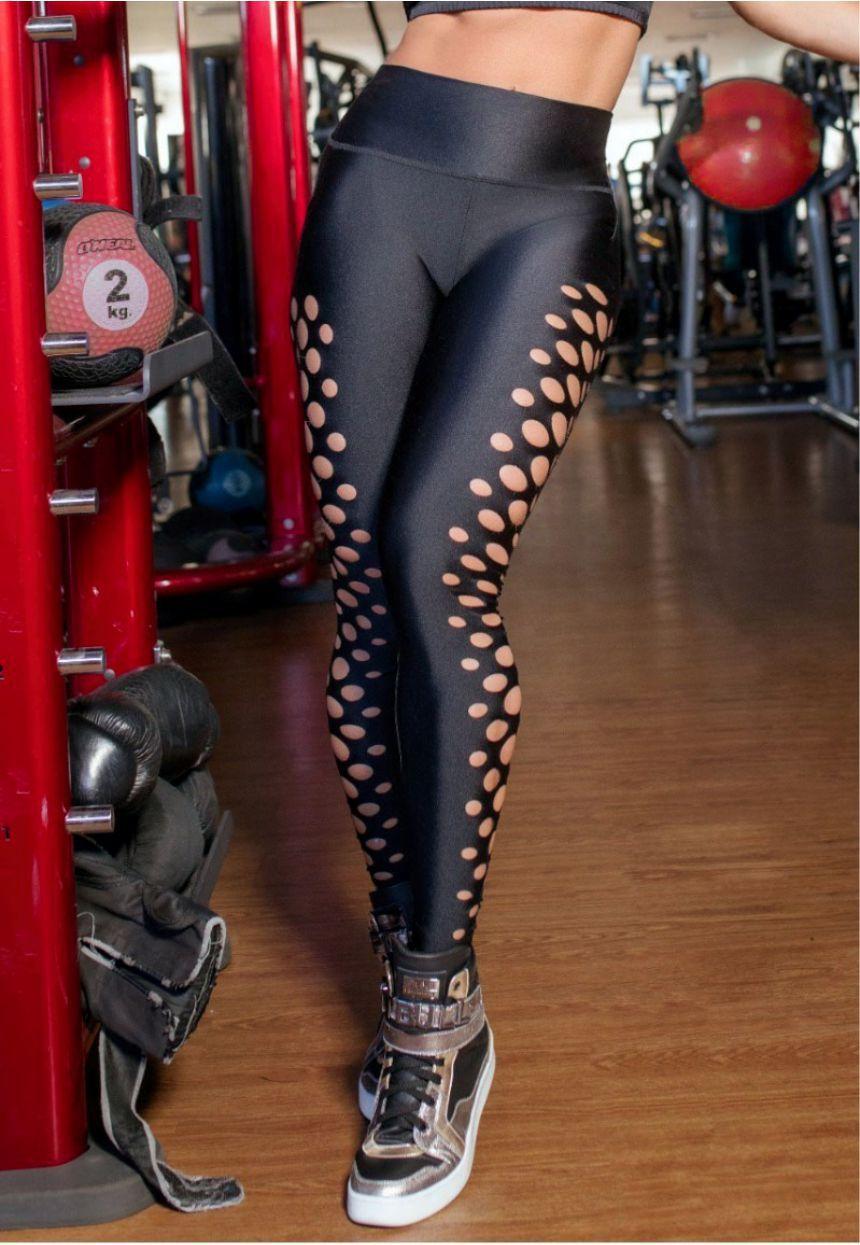 Calca Pit Bull 34072 Legging Fitness com Vazados