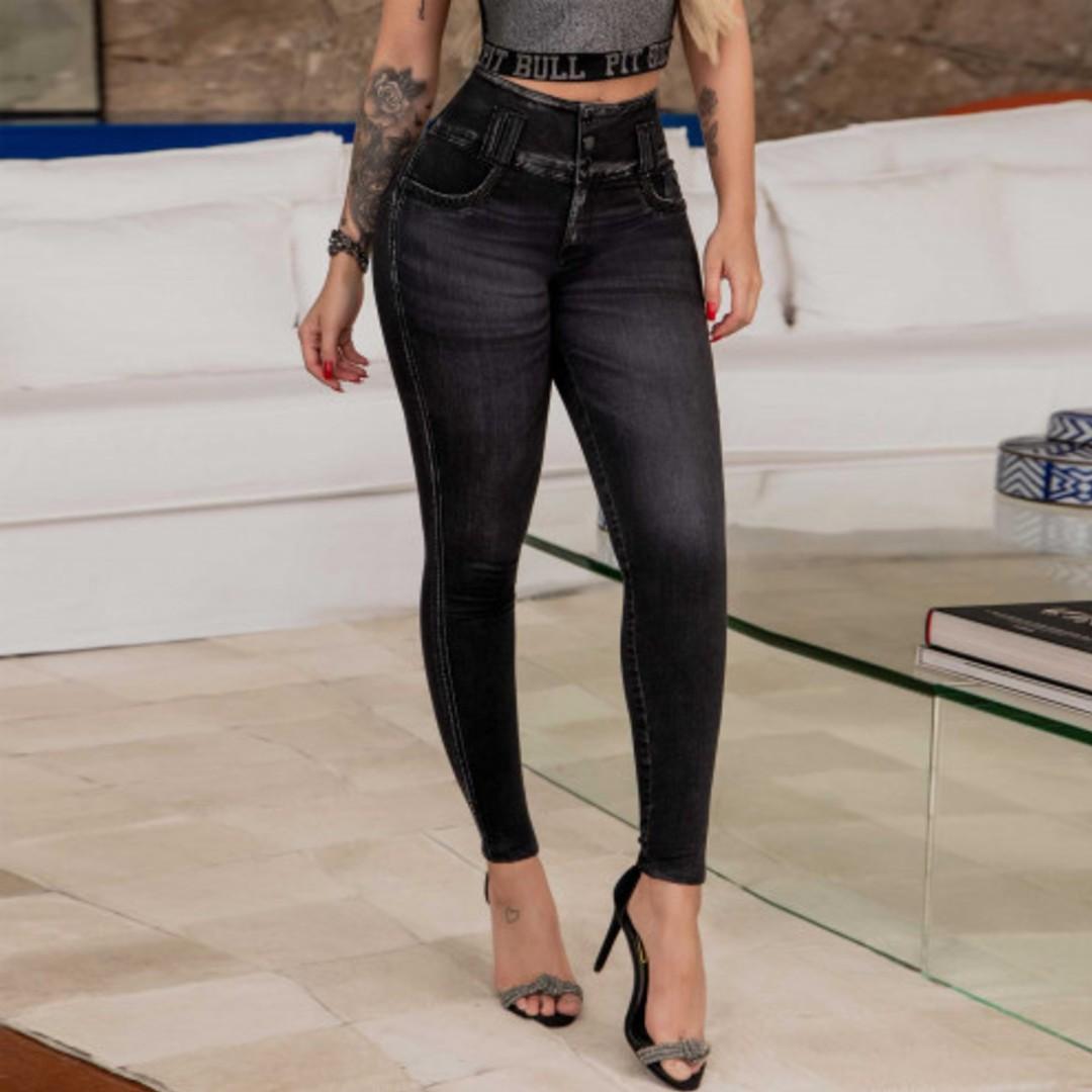 Calça Pit Bull 37318 Jeans Black Lançamento Skinny