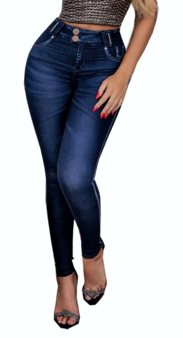 Calca Pit Bull Skinny Feminina Jeans Escuro