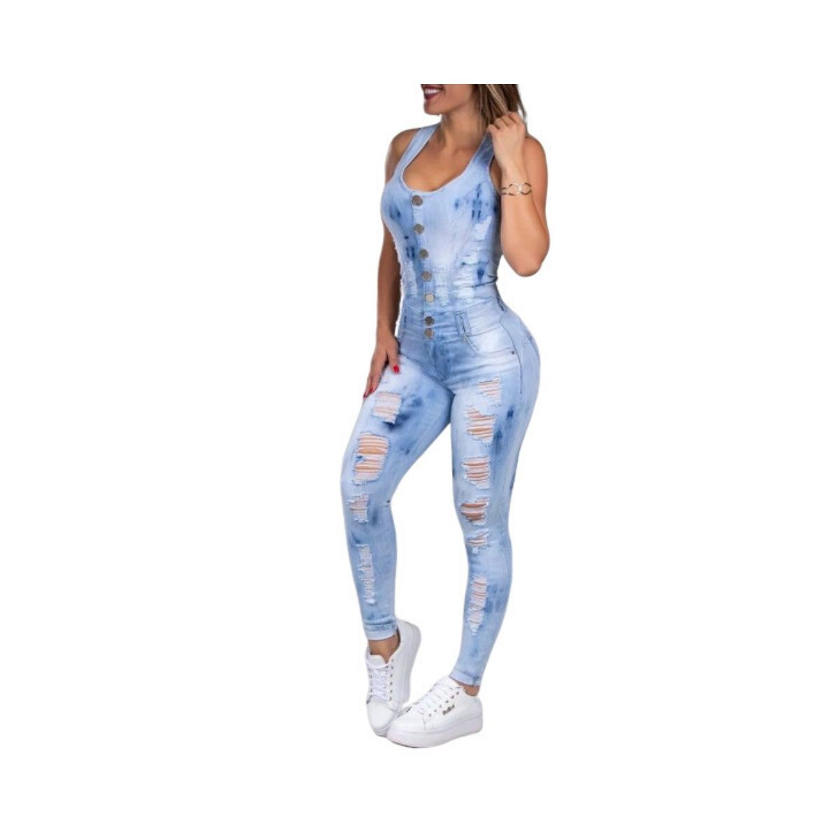 Macacao Pit Bull 33520 Jeans Destroyed TIE-DYE