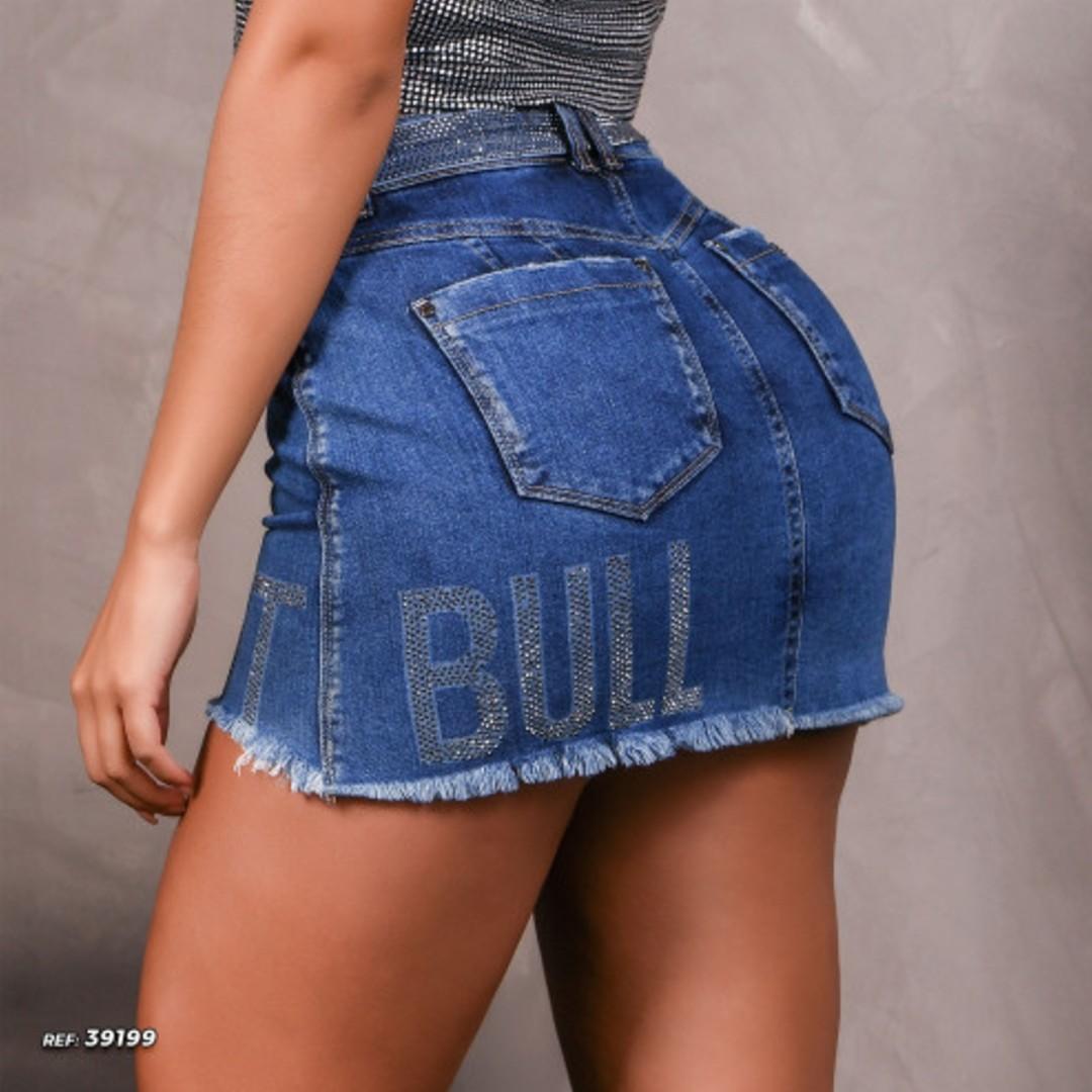 Mini Saia Pit Bull C/brilho Personaliz