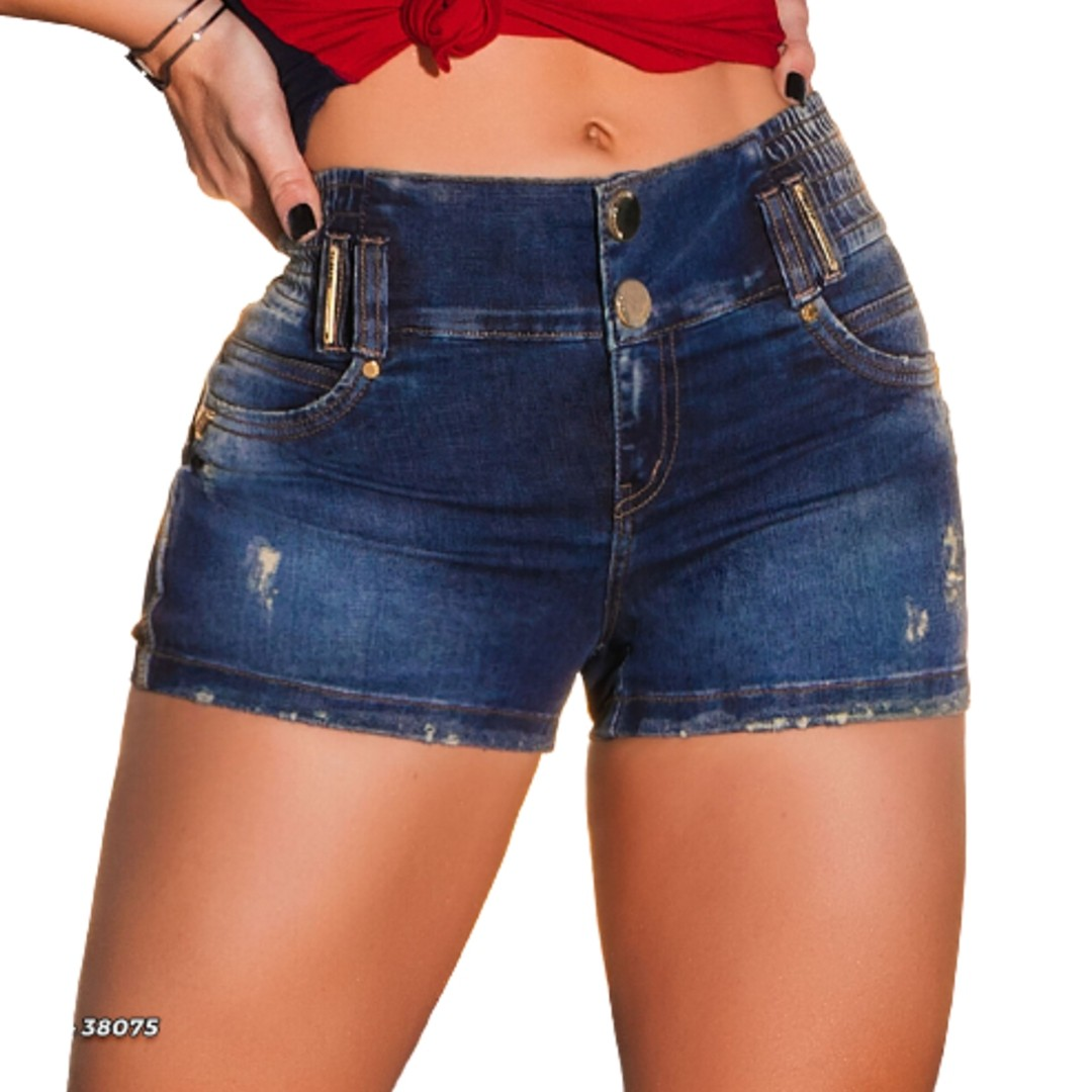 Short Jeans Pit Bull Cos Magico c/elastico nv col