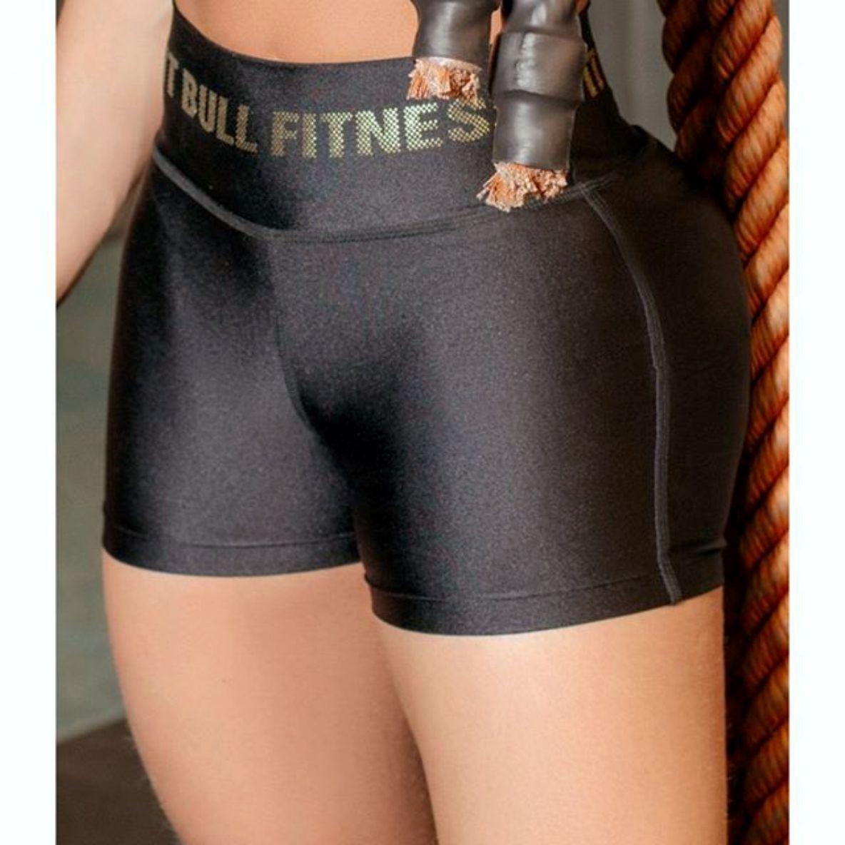 Short Pit Bull 34319 Fitness Cintura Alta c/Logo