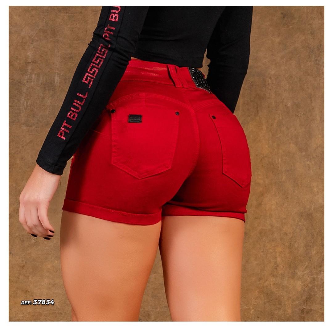 Short Pit Bull Collor Hot Pants