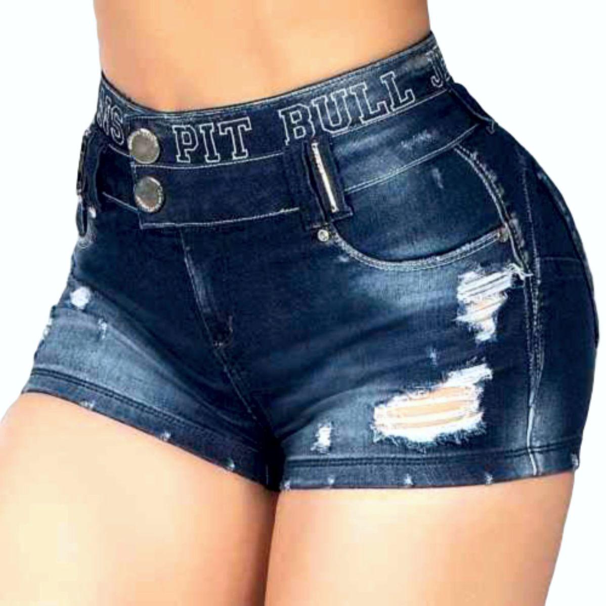 Short Pit Bull Jeans 35748 Cós Duplo de logomania