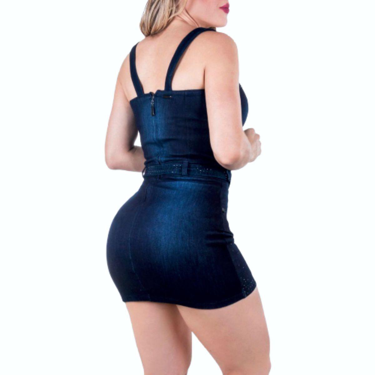 Vestido Pit Bull 27232 Jeans Feminino c/Pedra