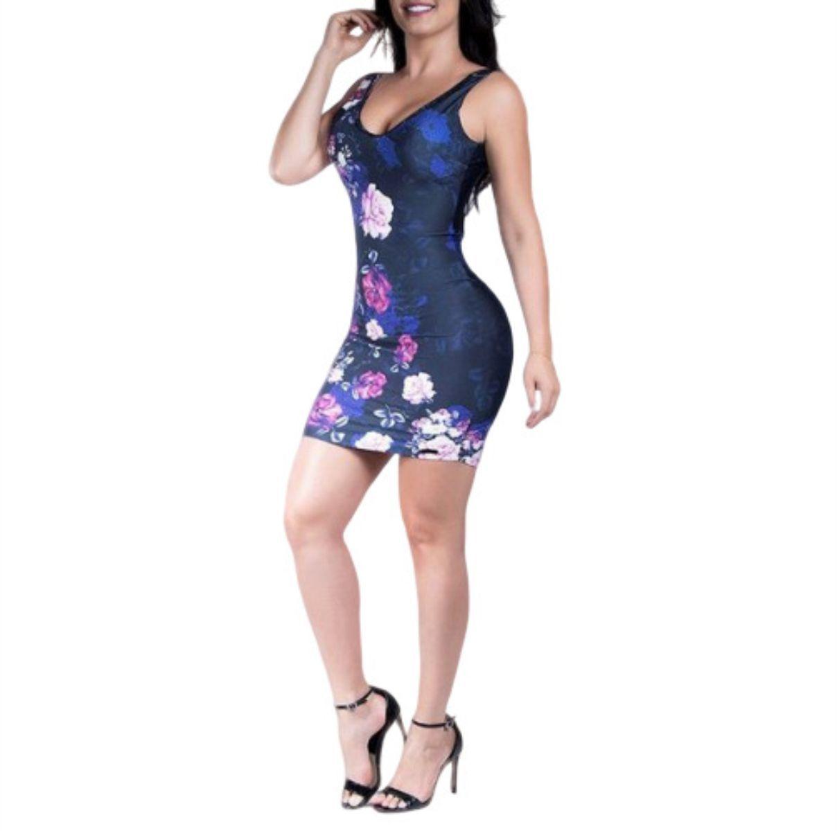 Vestido Pit Bull Jeans Ref 30015 Azul Floral