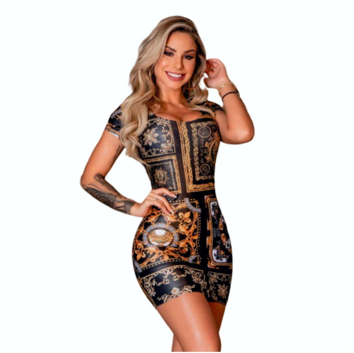 Vestido Pit Bull 34881 Sexy de Arabescos