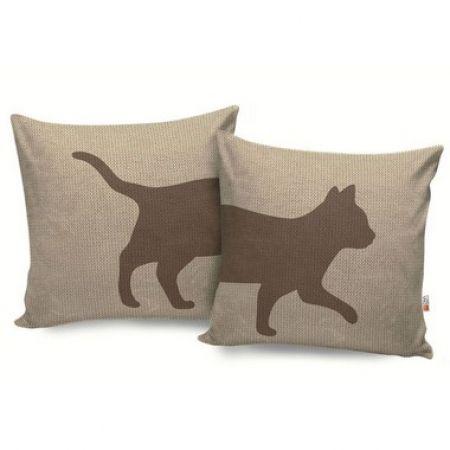 Conjunto de 02 Almofadas Casa Meva Gatos