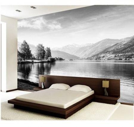 Painel de Parede em Tecido Autocolante Paper Pond P&B 330x280cm