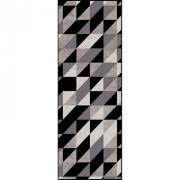 Passadeira Casa Meva Geométrico Black & Gray 66 x 180 cm