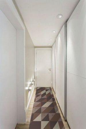 Passadeira Casa Meva Geométricos Marrom 66 x 180 cm
