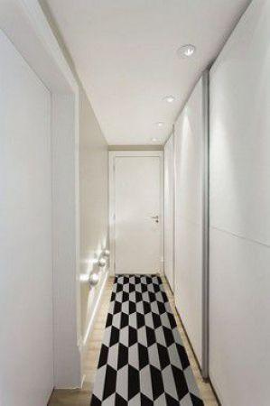 Passadeira Casa Meva Hexagon P&B 66 x 180 cm