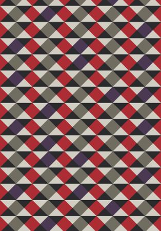 Tapete Casa Meva Geométricos Vermelhos 200 x 140 cm