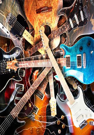 Tapete  Casa Meva Guitars 200x140 cm