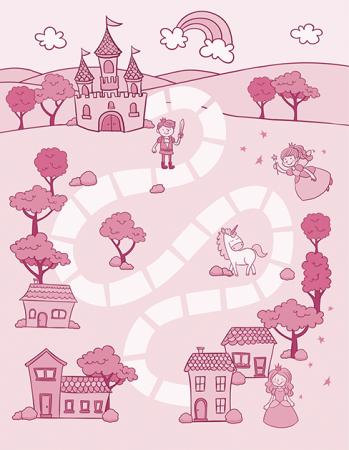 Tapete de Atividades - Castelo Rosa