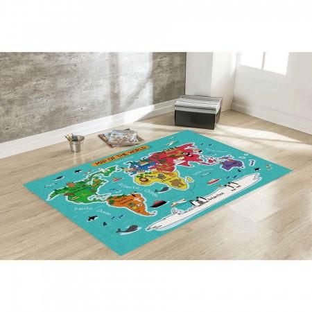 Tapete de Atividades - Mapa Mundi