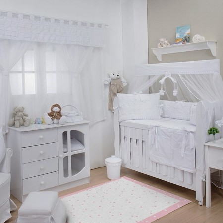 Tapete Infantil Bebê Poá Pink