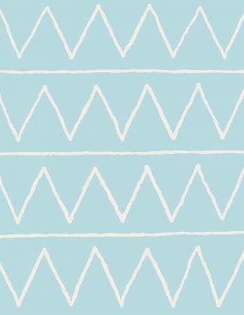 Tapete Infantil Zig Zag Azul 140 x 180 cm
