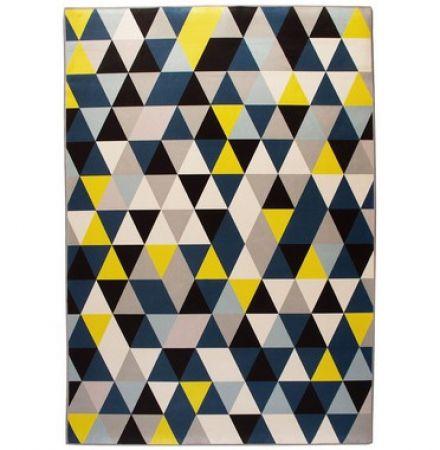 Tapete Casa Meva Blue Triangle 200x140cm