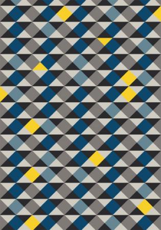 Tapete Casa Meva Geométricos Azuis 200 x 140 cm