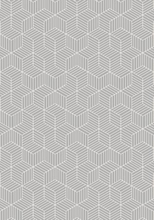 Tapete para Sala Cubos White 200 x 140 cm