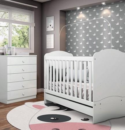 Tapete redondo Infantil Bebê Cow 1,40mx1,40m