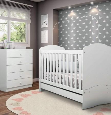 Tapete redondo Infantil Bebê Hearts 1,40mx1,40m