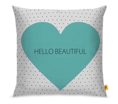 Conjunto com 03 Almofadas Hello Beautiful