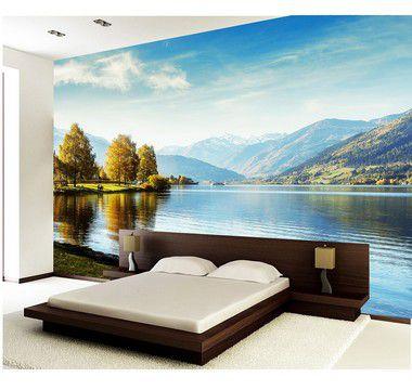 Painel de Parede em Tecido Autocolante Paper Pond 330x280cm