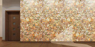 Painel de Parede em Tecido Autocolante Pedras 330x280cm
