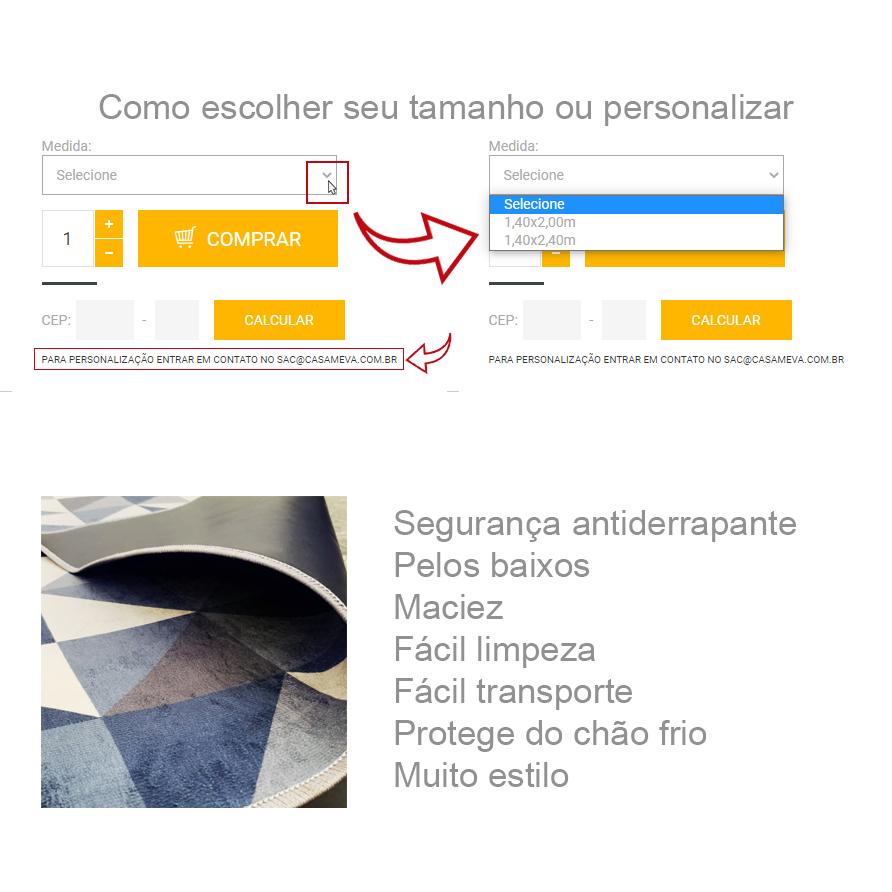 Passadeira @blognossacasinha - 66 x 240 cm