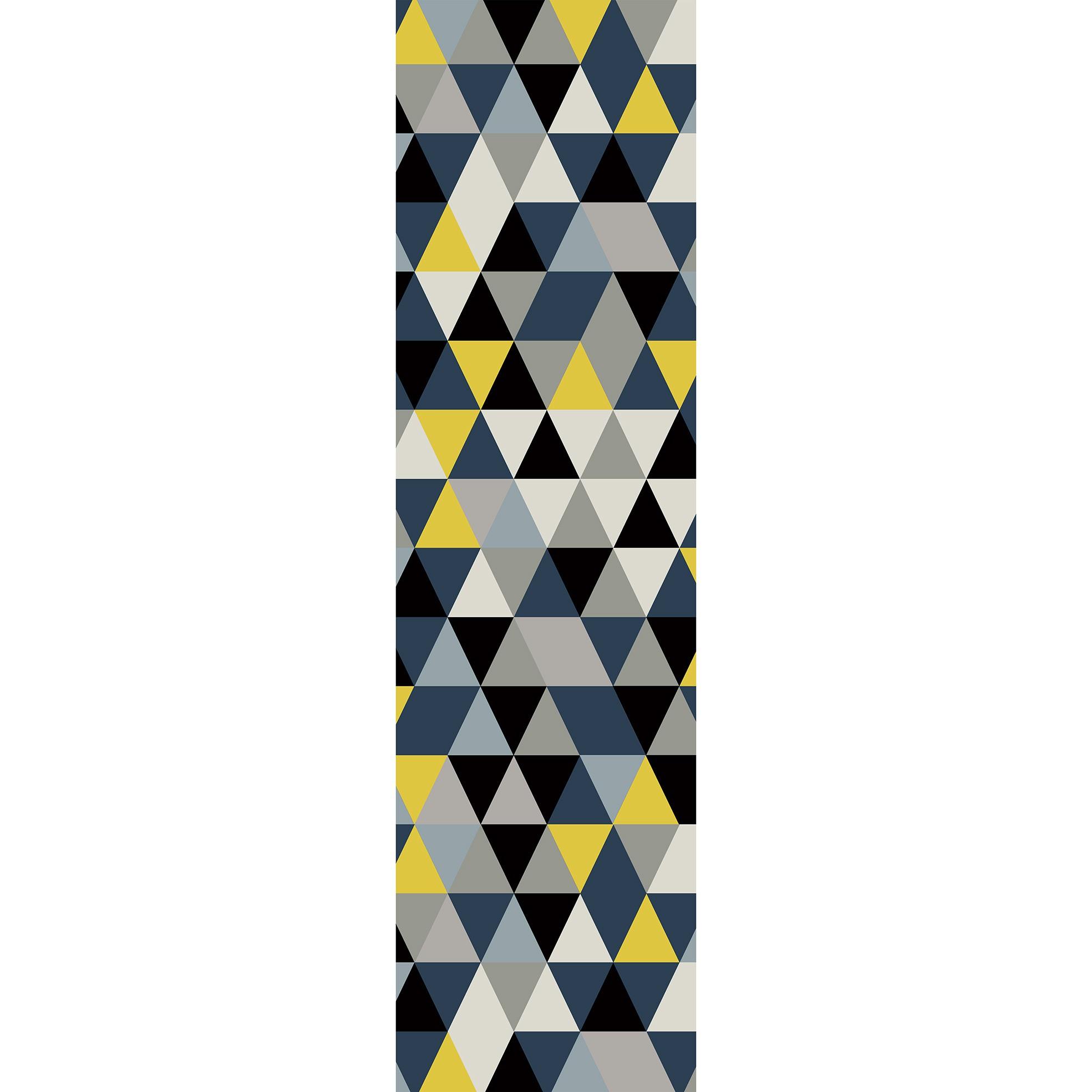 Passadeira Blue Triangule - 66 x 240 cm