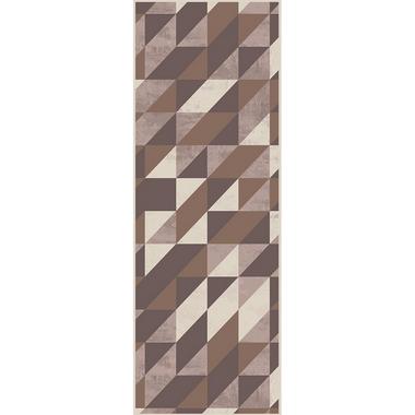 Passadeira Geométricos Marrom 66 x 240 cm