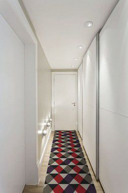Passadeira Casa Meva Geométricos Vermelhos 66x240cm