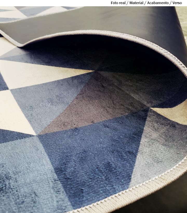 Passadeira Chevron Tricolor 66 x 240 cm