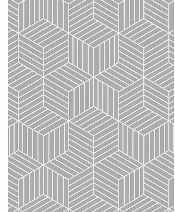 Passadeira Cubos White 66 x 240 cm