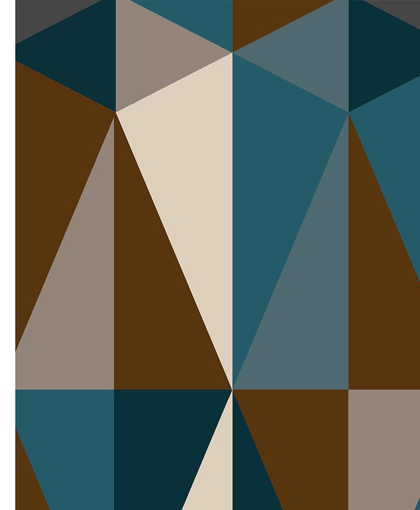 Passadeira Diamonds Marrom - 66 x 240 cm