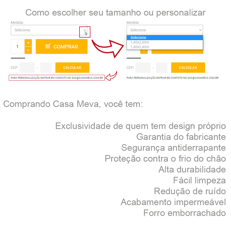 Tapete @blognossacasinha 100x140 cm