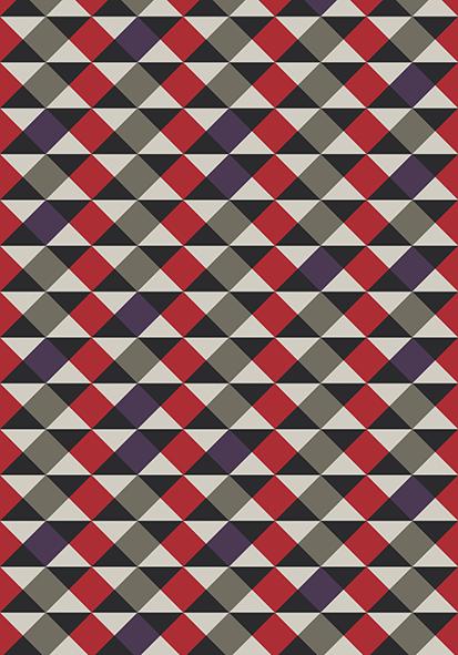 Tapete Geométricos Vermelhos 200 x 140 cm