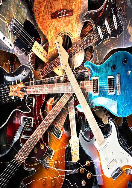 Tapete Guitars 200x140 cm