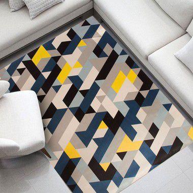 Tapete Casa Meva Mosaic Azul 200x140 cm