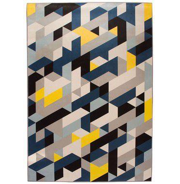 Tapete Mosaic Azul 200x140 cm